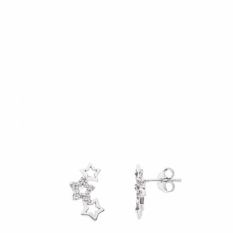 Wish List Silver Star Cluster Earrings