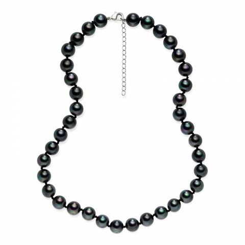 Pearls of London Dark Grey Pearl Necklace 43cm