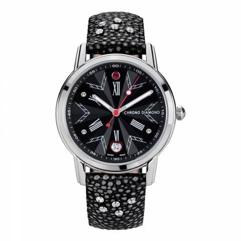 Chrono Diamond Women's Silver/Black Stainless Steel Watch