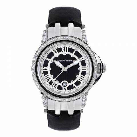 Chrono Diamond Women's Black/Steel Dionne Watch