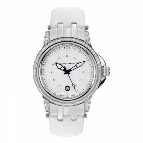 Chrono Diamond Women's Swiss White Watch
