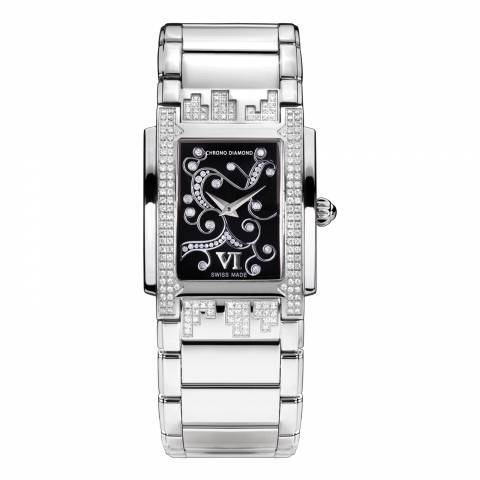 Chrono Diamond Women's Silver Damenuhr Lenya Watch