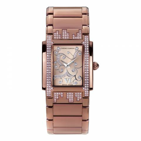 Chrono Diamond Women's Swiss Rose Gold Damenuhr Lenya Watch