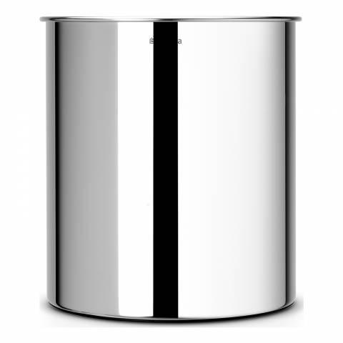 Brabantia Silver Stainless Steel Waste Paper Bin 7L