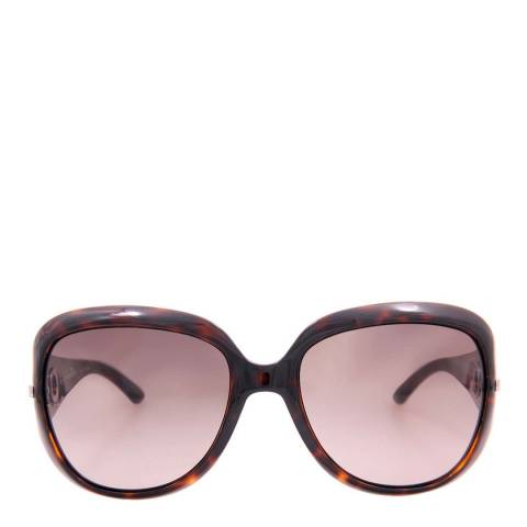Christian Dior Women's Brown Tortoiseshell Precieuse Butterfly Sunglasses