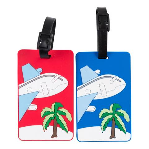 Travel One Red/Blue Luggage Tags