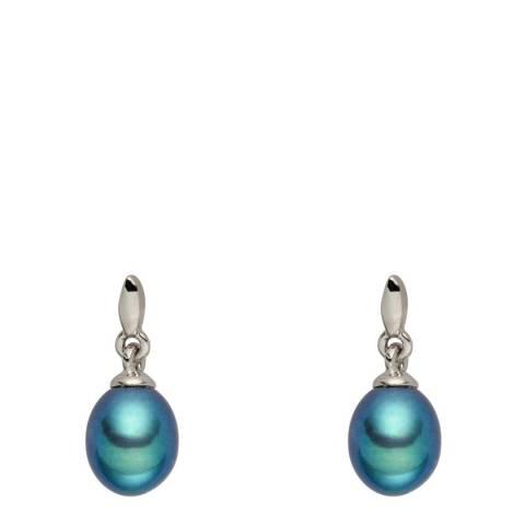Nova Pearls Copenhagen Teal Pearl Drop Stud Earrings