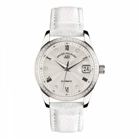 Andre Belfort Women's White/Silver Diamante Demeter Watch