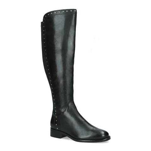 Carvela Black Peyton Mini Stud Knee High Boots