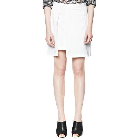 French Connection White Isabela Draped A Line Skirt
