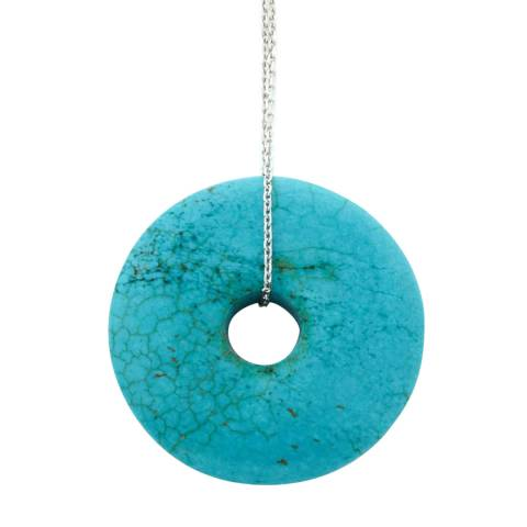 Alexa by Liv Oliver Turquoise Eternity Pendant Necklace