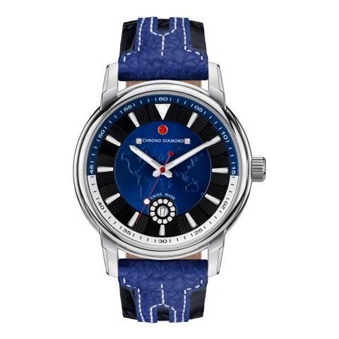 Chrono Diamond Men's Swiss Blue Merus Watch