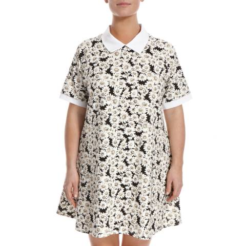 Ruby's Closet Black/Cream Daisy Print Shift Dress