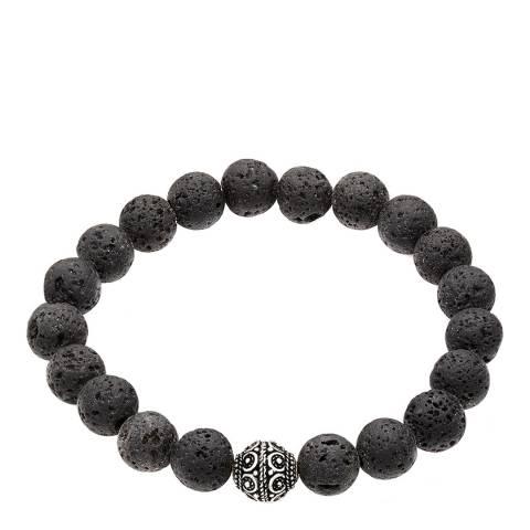 Stephen Oliver Black Lava Bead Bracelet