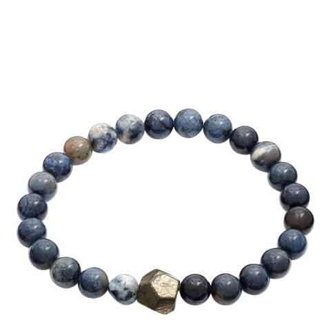 Stephen Oliver Blue/White Bead Bracelet