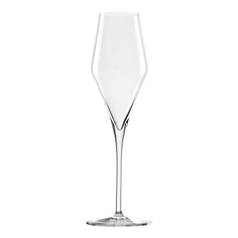 Stolzle Set of 6 Quatrophil Crystal Champagne Flutes, 292ml