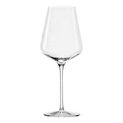Stolzle Set of 6 Quatrophil Crystal Bordeaux Glasses, 644ml