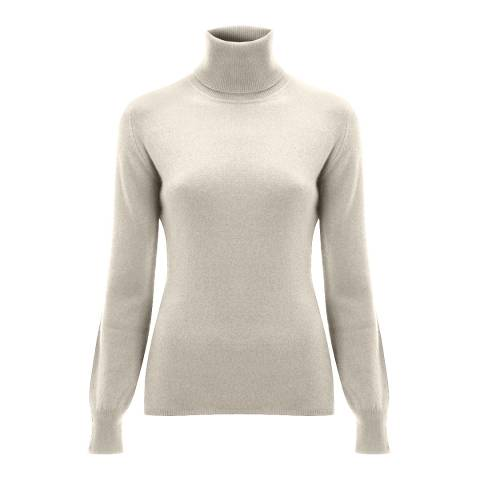 Scott & Scott London White Brodie Cashmere Jumper