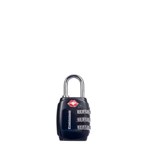 Platinium Black Combination Code Metal Luggage Lock