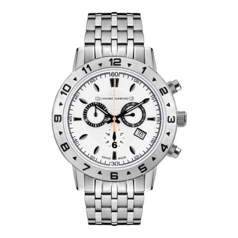 Chrono Diamond Men's Silver Chronograph Hektor Watch