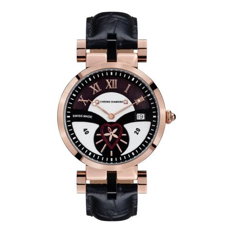 Chrono Diamond Women's Swiss Black Feronia Watch
