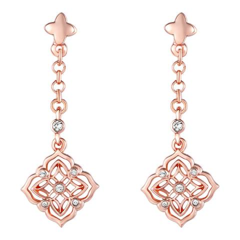 Lilly & Chloe Rose Gold Swarovski Elements Crystal Filigree Earrings