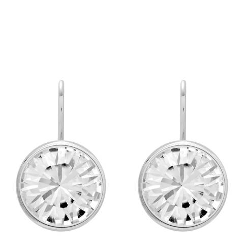 Saint Francis Crystals Silver Swarovski Crystal Elements Round Earrings