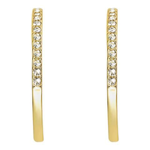 Lilly & Chloe Gold Swarovski Crystal Elements Cut Out Hoop Earrings