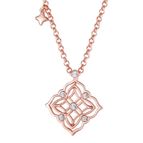 Lilly & Chloe Rose Gold Swarovski Crystal Elements Cut Out Necklace