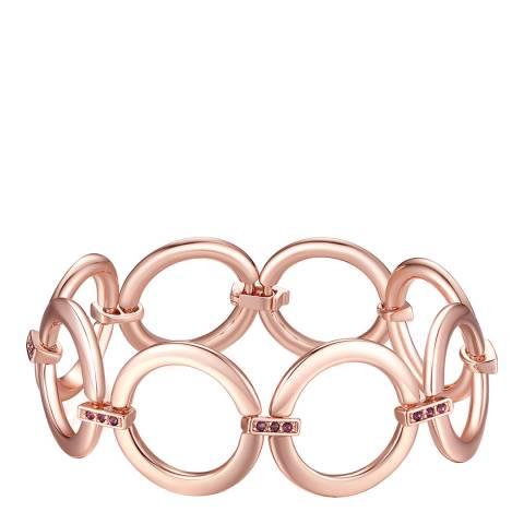 Lilly & Chloe Rose Gold Swarovski Crystal Elements Link Bracelet