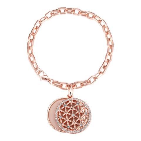 Lilly & Chloe Rose Gold Swarovski Crystal Elements Chain Bracelet