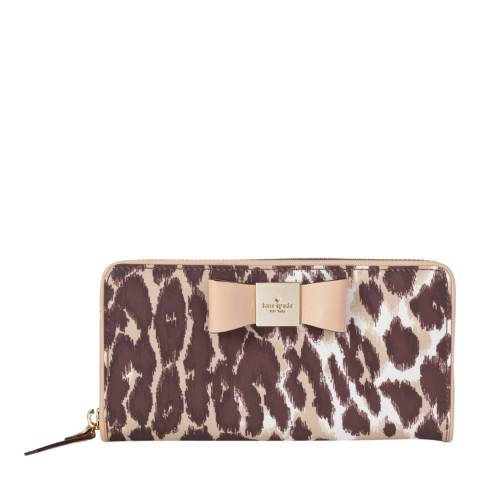 Kate Spade Brown Veranda Place Leopard Print Wallet