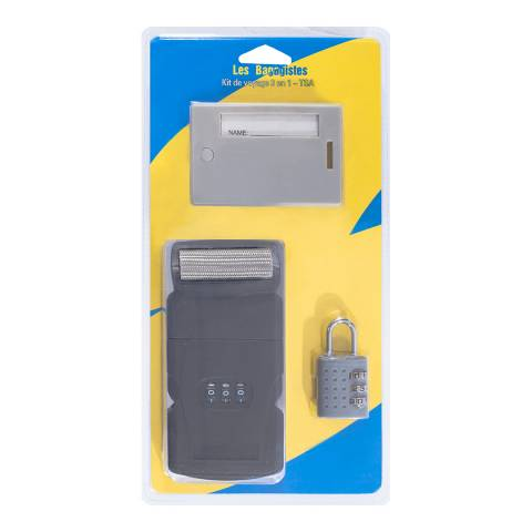 Les Bagagistes Grey Chrome Padlock