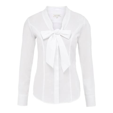 Women S White Bow Cotton Shirt Brandalley