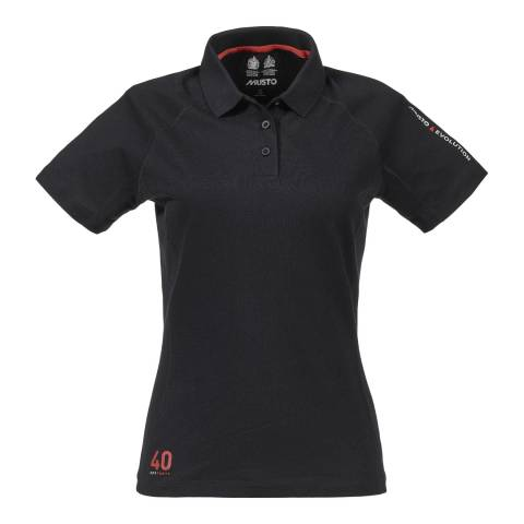 Musto Women's Black Evolution Sunblock Cotton Polo