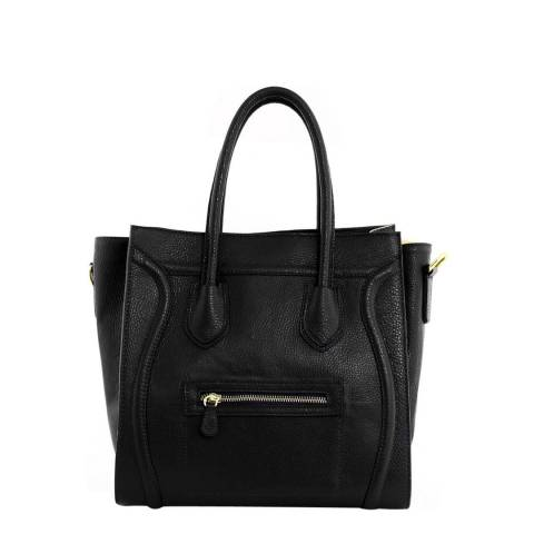 ae5379694a Black Leather Smiley Tote Bag - BrandAlley
