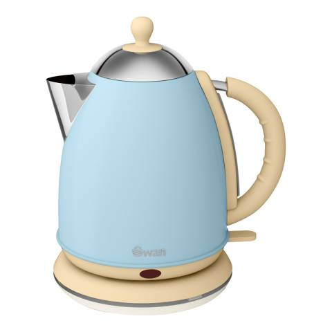 Swan Blue Retro Jug Kettle, 1.7L