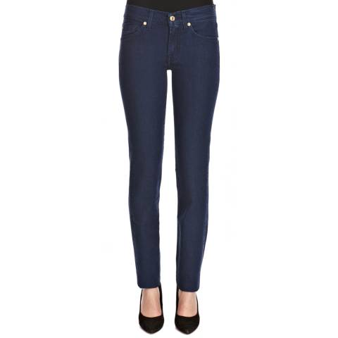 7 For All Mankind Blue Roxanne Silk Touch Slim Stretch Jeans
