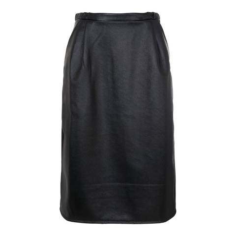 French Connection Black Wild Ashes A Line Stretch Skirt