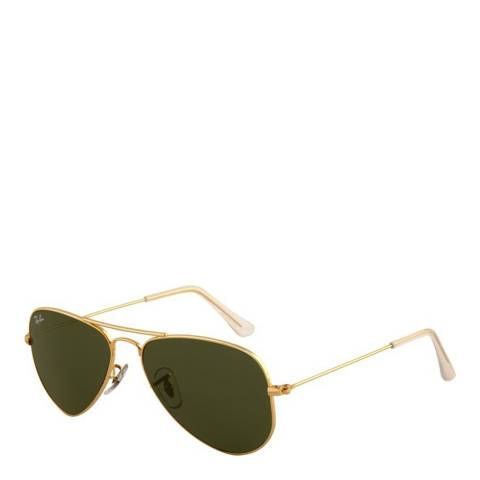 Ray-Ban Unisex Gold Aviator Sunglasses 52mm