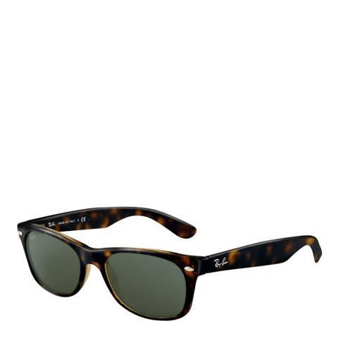 Ray-Ban Unisex Dark Tortoise New Wayfarer Sunglasses 52mm