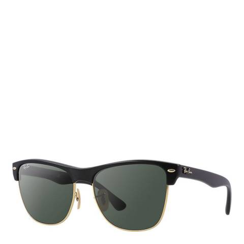 Ray-Ban Unisex Matte Black Oversized Clubmaster Sunglasses 57mm