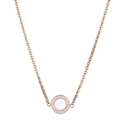 White label by Liv Oliver Rose Gold/Mother of Pearl Circle Necklace