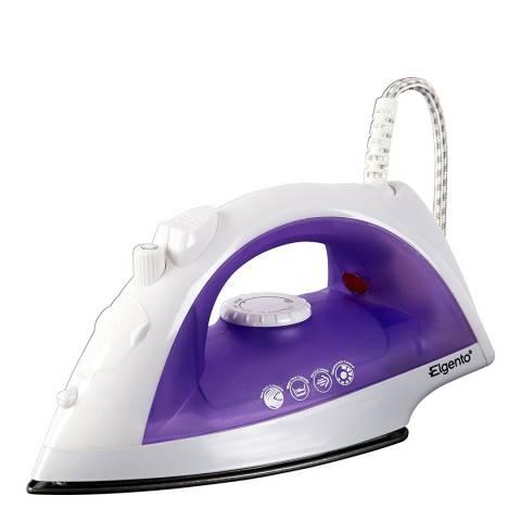Elgento Purple/White Steam Iron 2000W