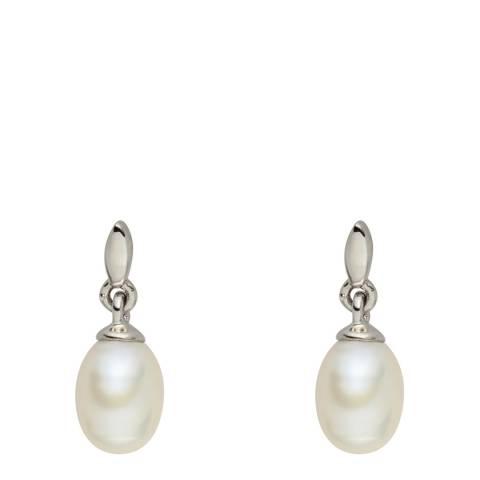 Nova Pearls Copenhagen White Pearl Drop Stud Earrings