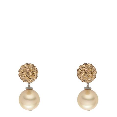 Nova Pearls Copenhagen Off White Pearl Stud Drop Earrings