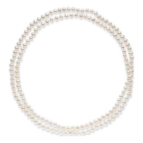 Nova Pearls Copenhagen White Freshwater Pearl Necklace 5/5.5mm