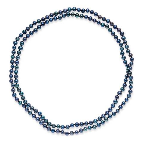 Nova Pearls Copenhagen Dark Blue Freshwater Pearl Necklace 5/5.5mm