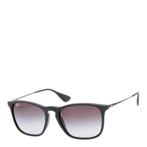 Ray-Ban Unisex Black Rubber Rectangle Sunglasses 54mm
