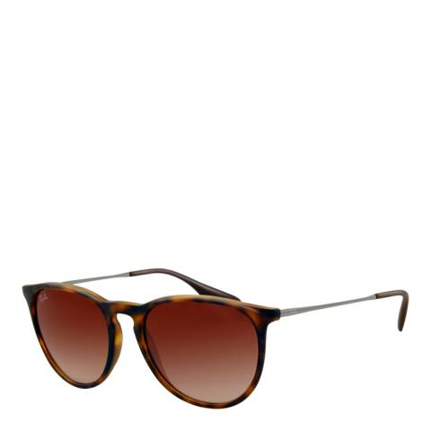 Ray-Ban Women's Brown Rubber Erika Sunglasses 54mm